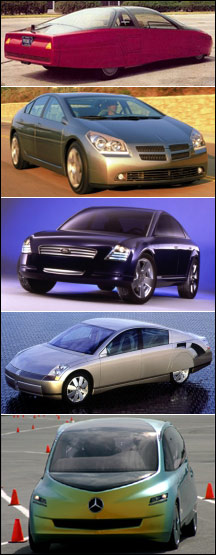 Concept cars without mirrors
